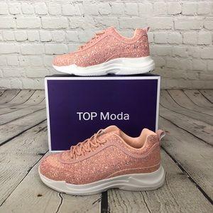 Pink Rose Gold Glitter Sneaker Nordstrom Top Moda